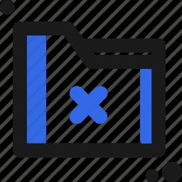 delete, file, folder, organize, save icon