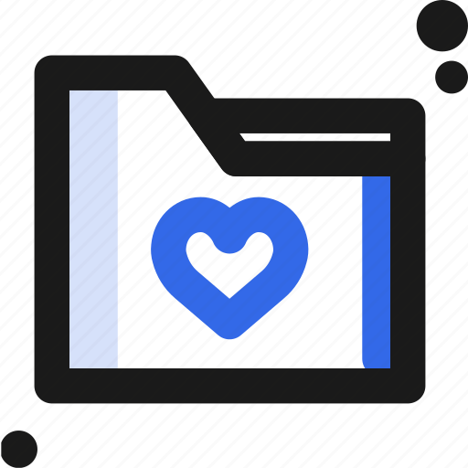 file, folder, heart, organize, save icon
