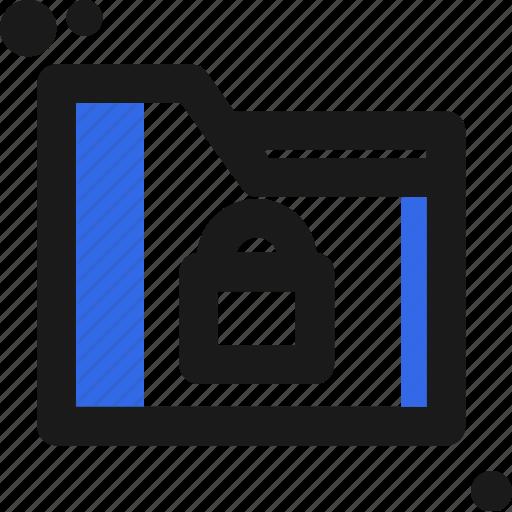 file, folder, lock, organize, save icon