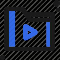 file, folder, organize, play, save icon