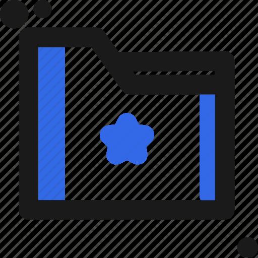 file, folder, organize, save, star icon
