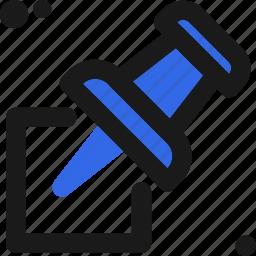 attachment, map, mark, pin icon