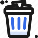 bin, delete, get, rid, trash, waste icon