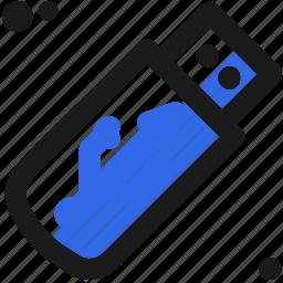 connection, digital, drive, storage, usb icon