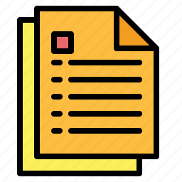 document, edit, file, interface icon
