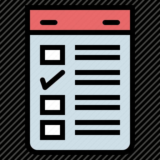 check, checking, checklist, list, mark, paper icon