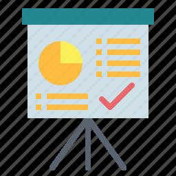 board, presentation, whiteboard, written icon