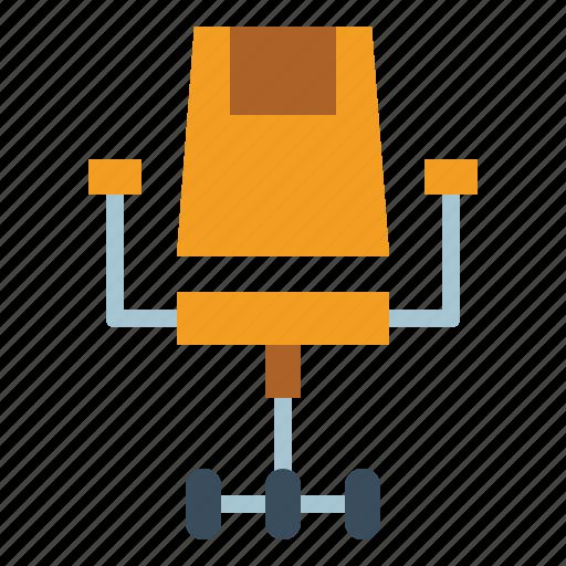chair, desk, seat, sitting icon