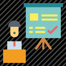 business, chart, presentation, statistics icon