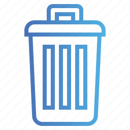 bin, delete, garbage, trash icon