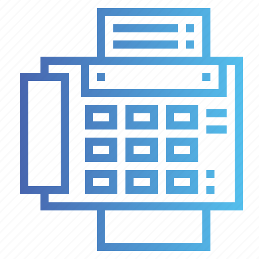 fax, material, office, phone, telephone icon