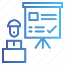 business, chart, presentation, statistics icon