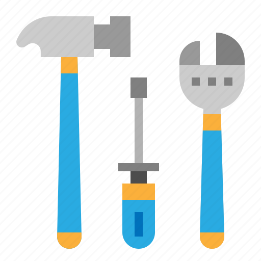 hammer, screwdriver, service, tool, wrench icon