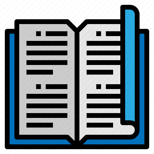 book, bookmark, learning, open icon