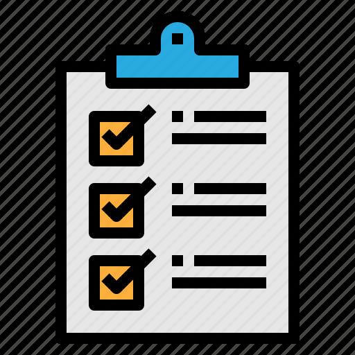 check, clipboard, list, tasks icon