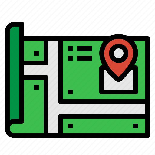 gps, location, map, marker icon