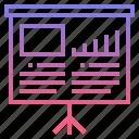 board, chart, flip, present icon