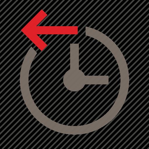backtime, cancel, circle, limitation, office, time, undo icon