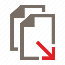 copy, doc, download, drop, file, office, paste icon