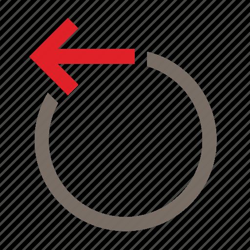 back, cancel, circle, office, previous, rewind, undo icon
