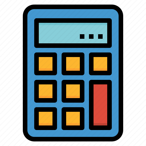 calculating, calculator, maths, technology icon