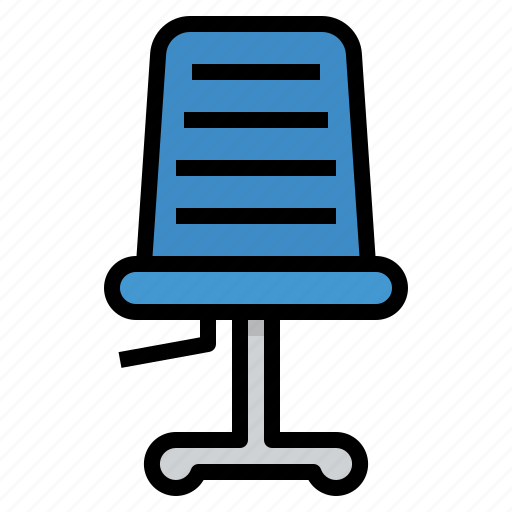 chair, furniture, office, setting icon