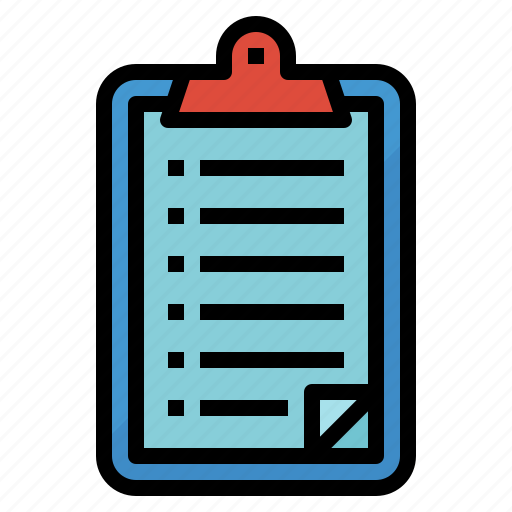clipboard, list, note, paper icon