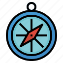 compasses, direction, navigate, navigation icon