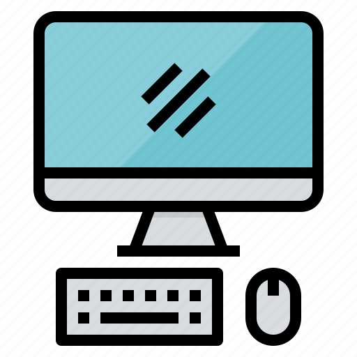 computer, desktop, monitor, screen, technology icon