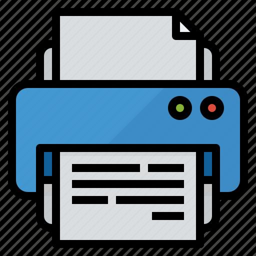 document, print, printer, symbol icon
