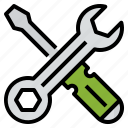 custom, repair, service, tool icon