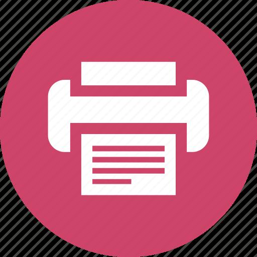 copier, document, fax, machine, office, paper, printer icon
