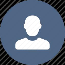 contact, male, person, portrait, profile, user icon