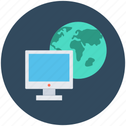 earth, globe, monitor, planet, worldwide icon