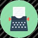office material, stenographer, typewriter, typing, typing tool