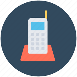 cordless phone, police radio, radio transceiver, walkie talkie, wireless phone icon