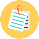 attached document, attachment, document, file attachment, paperclip