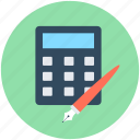 accounting, calculating device, calculator, mathematics, office supplies