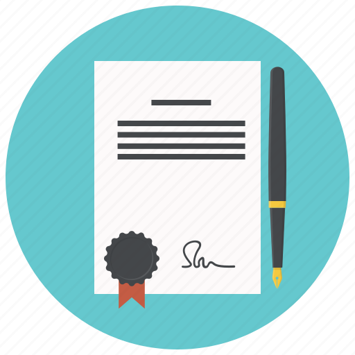 agreement, business, contract, document, file, paper, pencil icon
