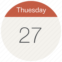 calendar, date, day, event, month, schedule, thuesday icon
