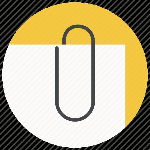 attach, attachment, clinch, clip, fastener, paper, paperclip icon