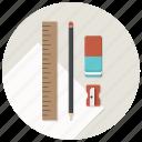 blueprints, build, develop, development, pen, sharpner icon