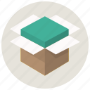 box, delivery, open box, package, product delivery, shippment icon