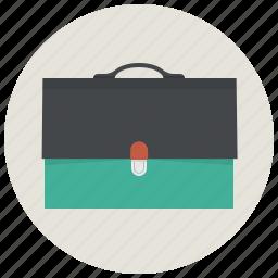 bag, baggage, brief case, briefcase, business, career, case icon