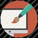 computer, graphic, graphics, paint, web design icon