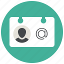 card, contact, profile, sketch, user, vcard icon