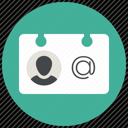 card, contact, profile, sketch, user, vcard icon