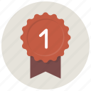 achievement, award, badge, best, favorite, ribbon icon
