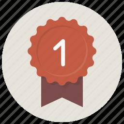 achievement, award, badge, best, favorite, ribbon icon