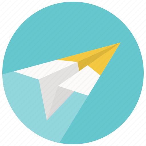 airplane, email, mail, message, paper, plane, send icon